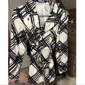 🛍 Heart Soul | Black & White Trench Coat